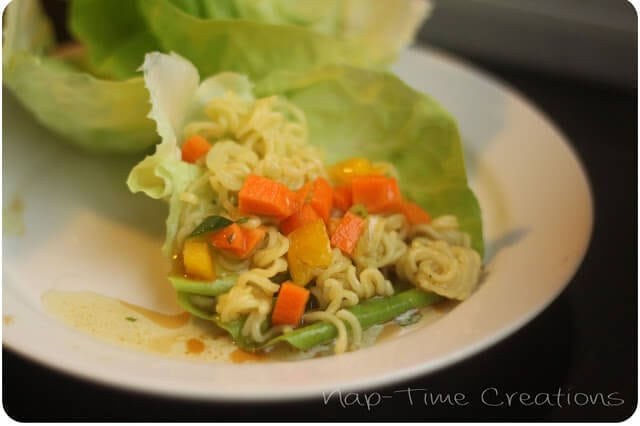 Lettuce Wraps on a plate.