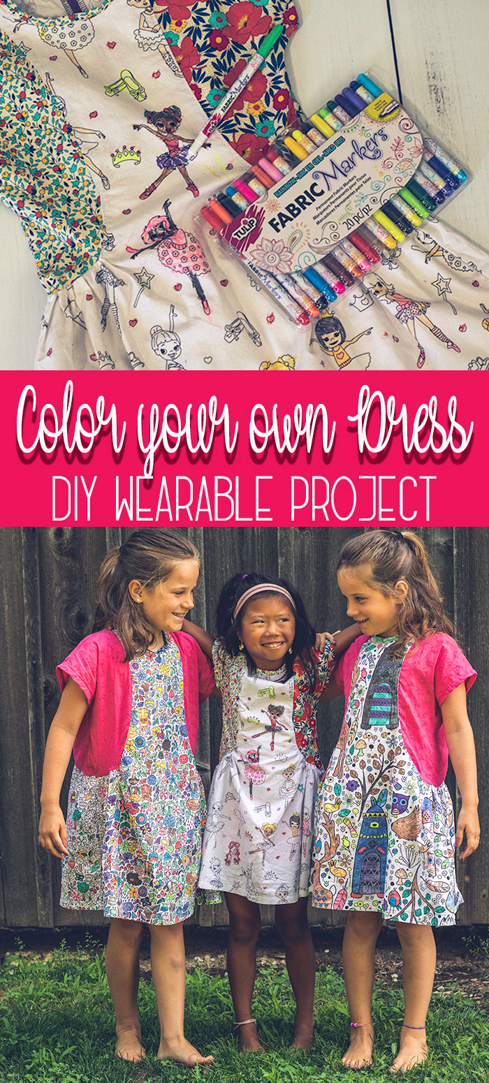 color your own dress with color me fabric fun DIY idea from Life Sew Savory