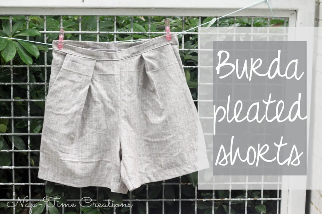 pleated shorts pattern