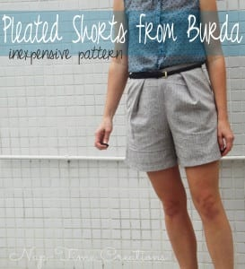 Pleated Short Pattern