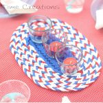 July Fourth Craft {Patriotic Tealights}