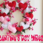 Valentines Wreath {with hearts and blossoms}