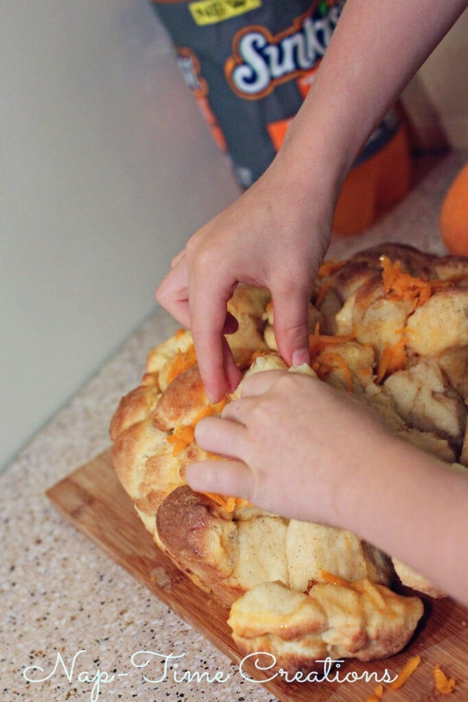 Orange Monkey Bread #FlavorforLess #PMedia