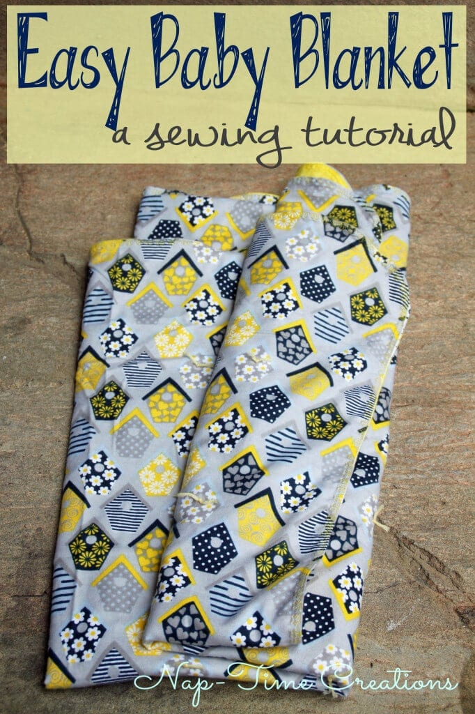 easy baby blanket, a great baby shower gift, super simple sewing project. From Nap-Time Creations