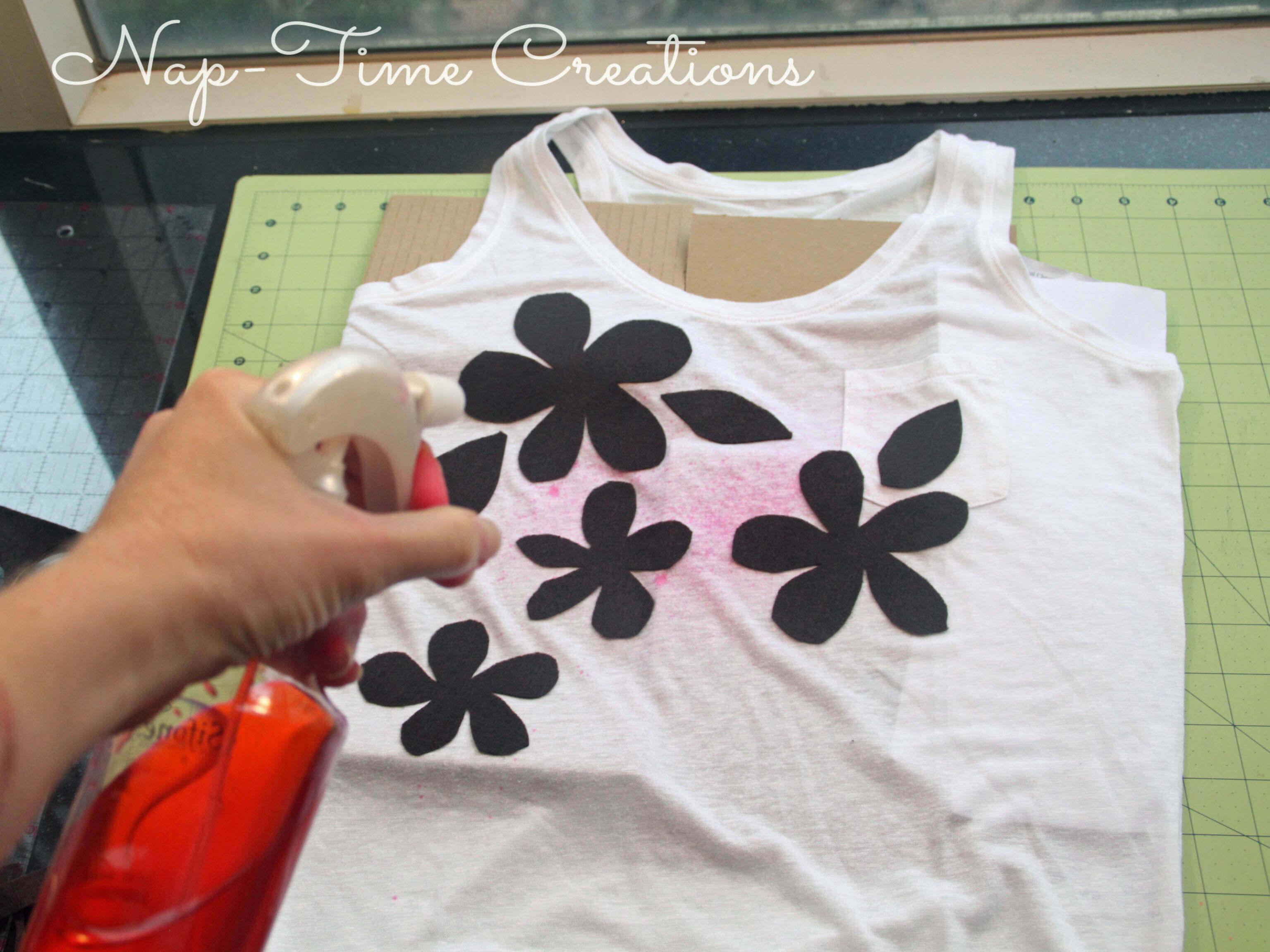 Spray Paint T Shirt With Kool Aid Juice Drink Life Sew Savory