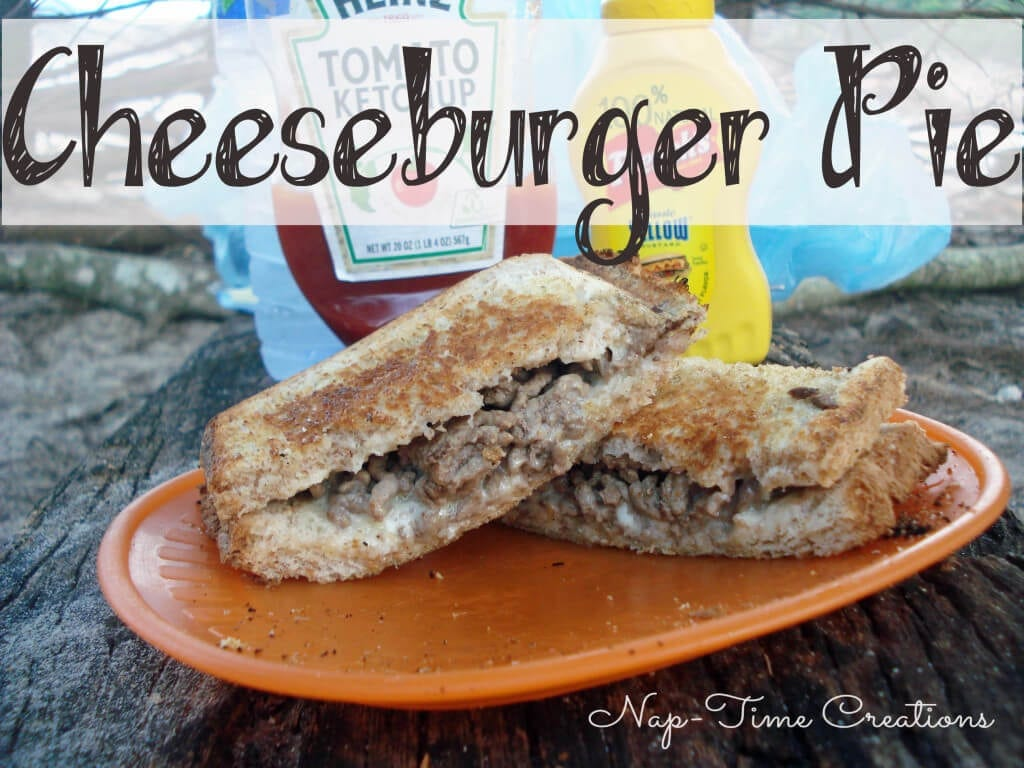 cheeseburger Pie recipe for campfire cooking