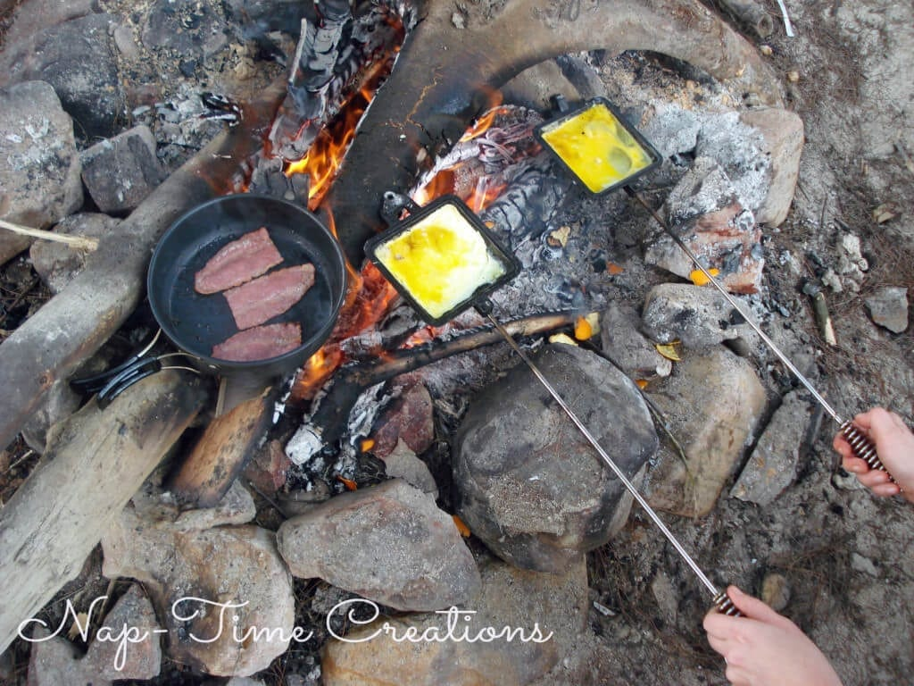 Breakfast over the campfire pie iron recipes