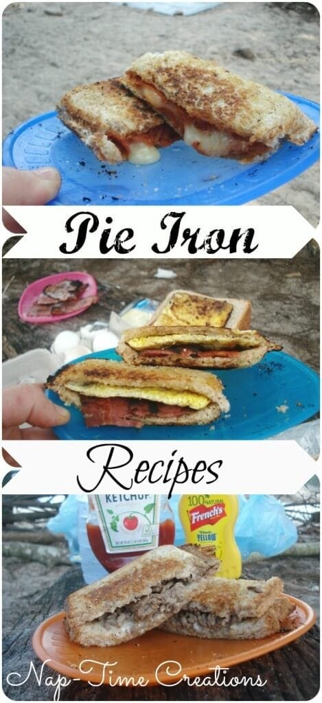 Best Pie Iron Recipes for camping and backyard BBQ from life sew savory