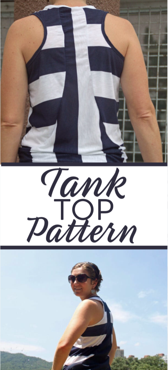 free tank top pattern in size S from Life Sew Savory with sewing tutorial