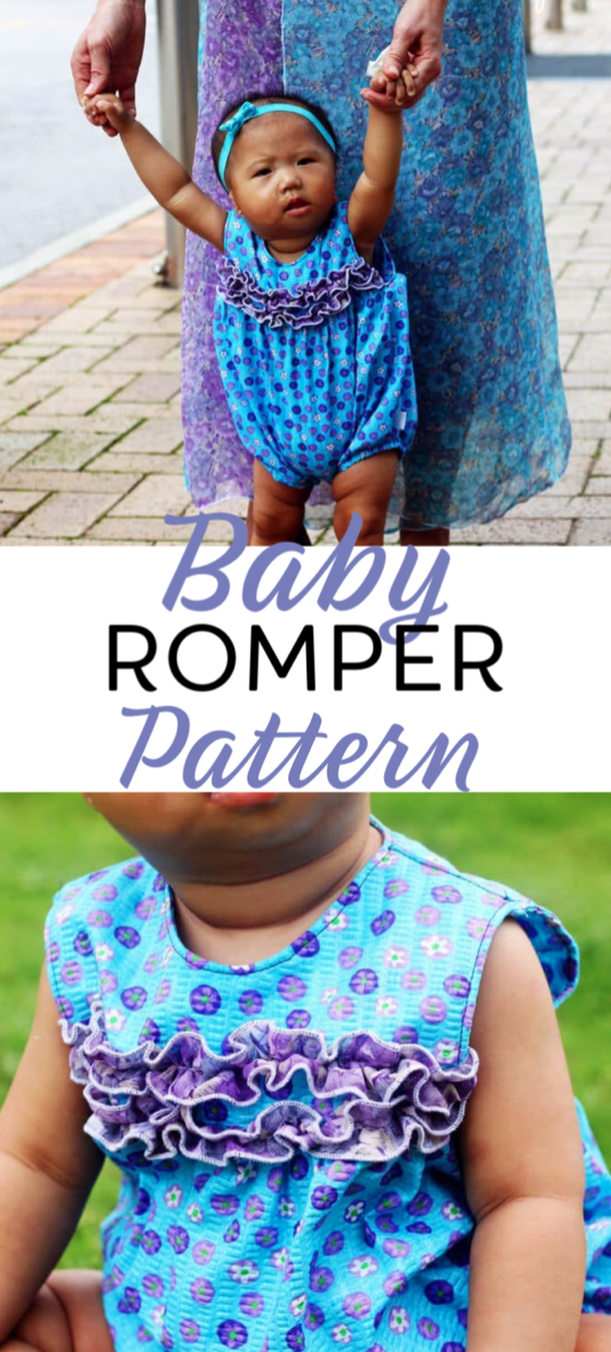 baby romper free sewing pattern and tutorial from Life Sew Savory kids sewing pattern