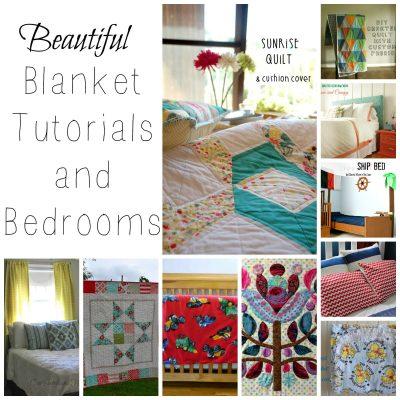 Beautiful Blanket Tutorials and Bedrooms