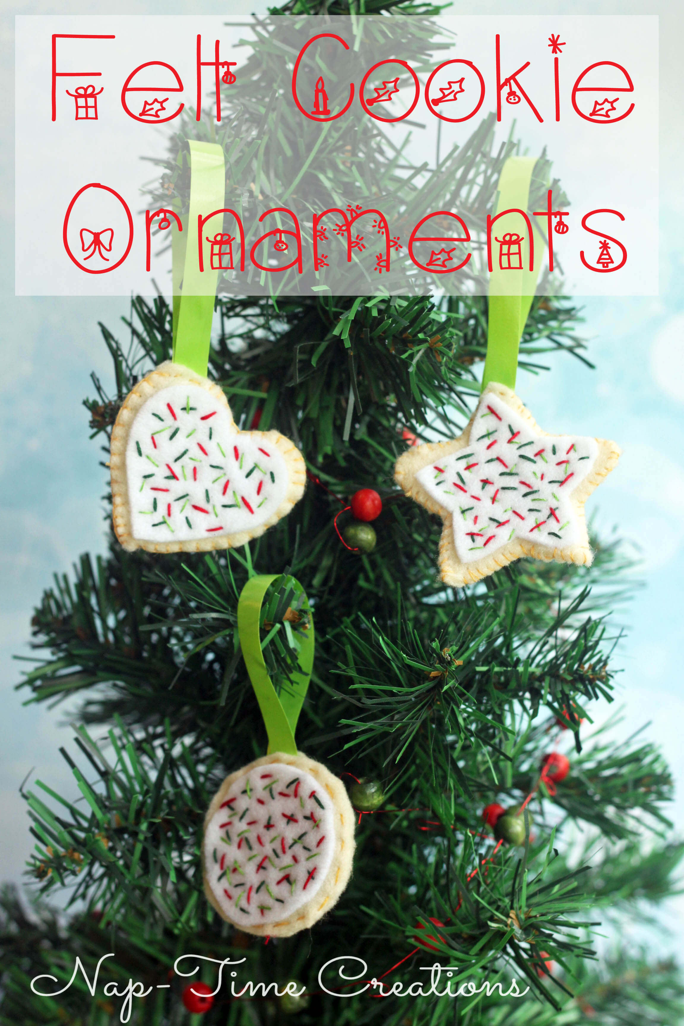 Felt Cookie Ornaments Tutorial - Life Sew Savory
