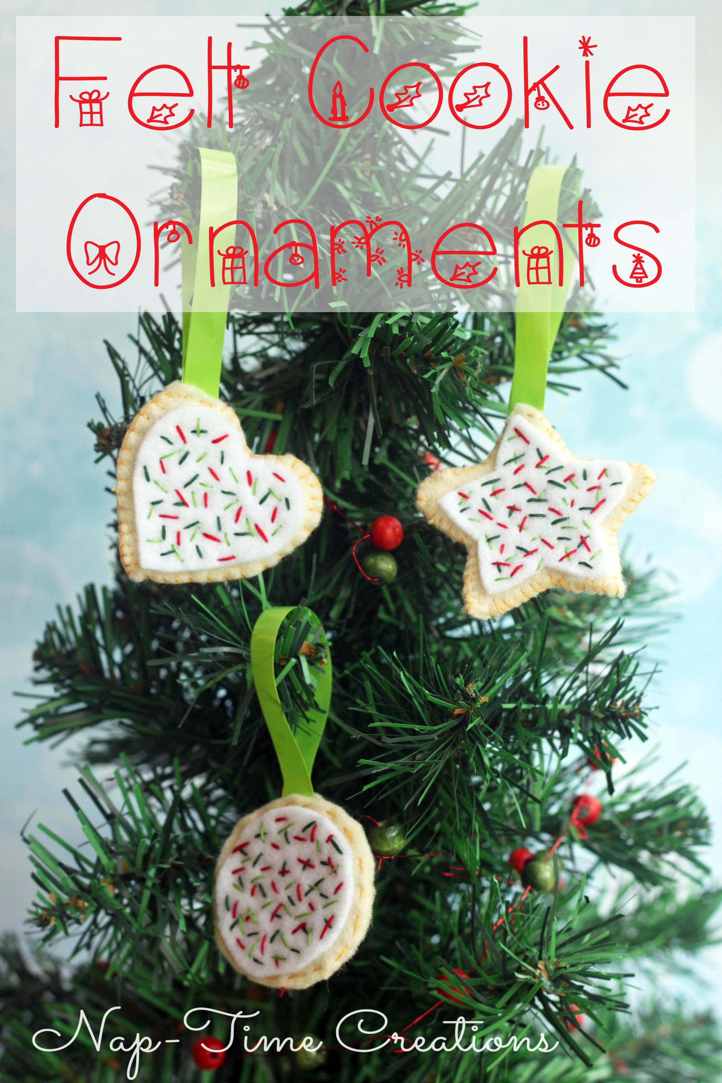Felt Cookie Ornaments Tutorial - Nap-time Creations
