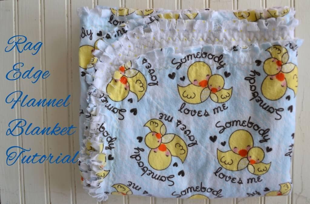 rag edge flannel blanket tutorial
