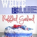 Red White blue garland