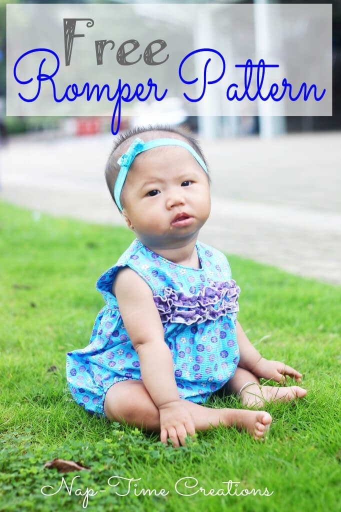 Free baby Romper Pattern Size 0-12 months sewing pattern and tutorial from Life Sew Savory