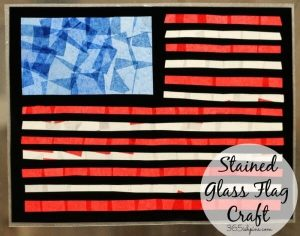 Stained Glass Flag Craft {Summer Fun part 1}