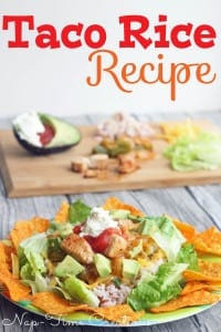 Taco Rice Recipe- sure to be a hit with the whole family. Make each plate to your liking..