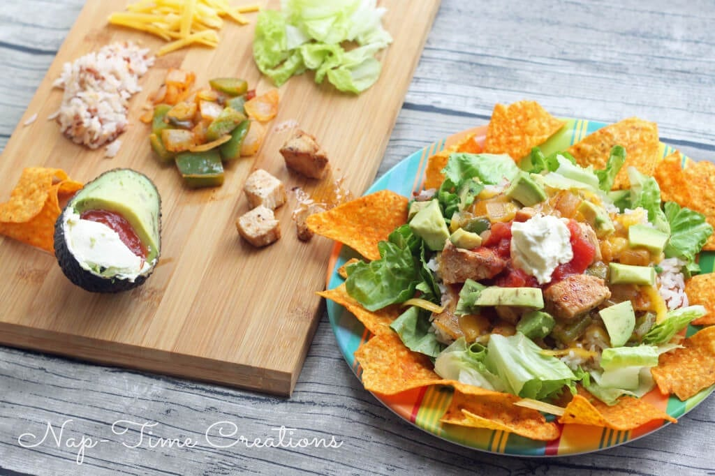 Simple Taco Rice plate
