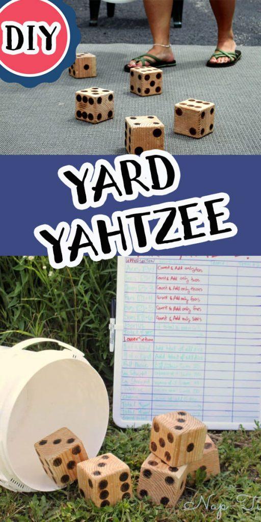 lawn yahtzee game DIY make your own fun backyard game