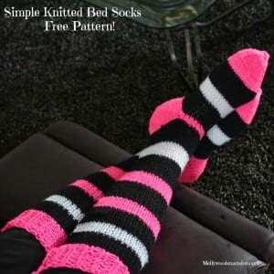 Two Needle Knitted Socks