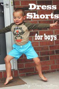 Boys Dress Shorts Sewing Pattern
