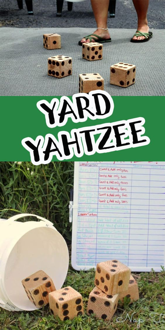 Today I'm sharing a DIY Yard Yahtzee game and other ideas for summer family fun.