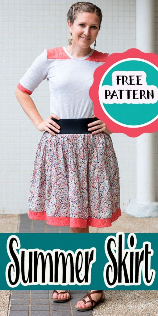 summer skirt sewing tutorial