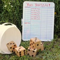 Yard Yahtzee {big dice}