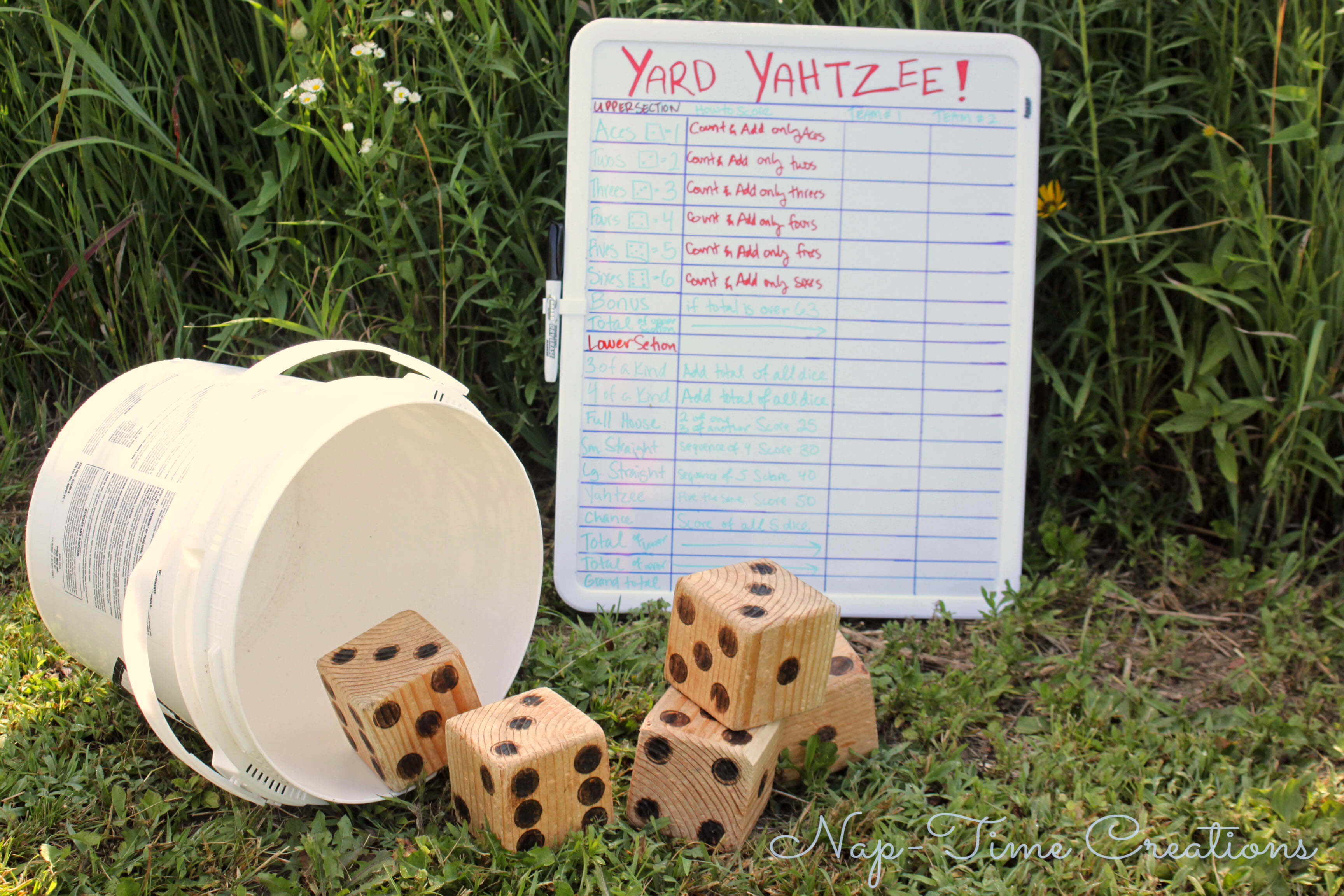 photo How to Play Yard Yahtzee