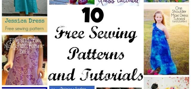 10 free sewing patterns