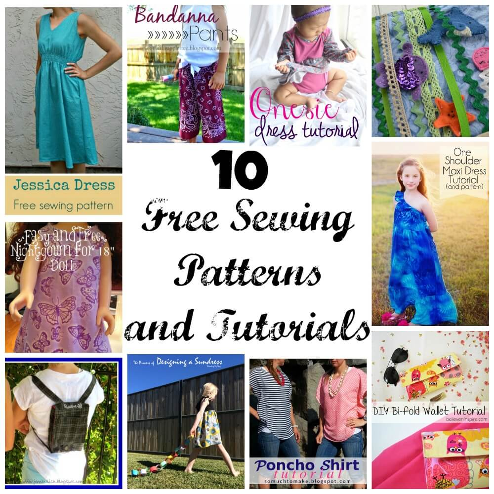 10 free sewing patterns