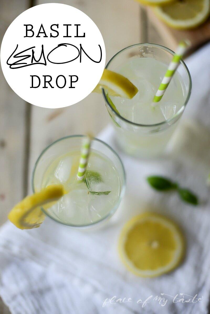 Basil Lemon Drop   www.placeofmytaste.com