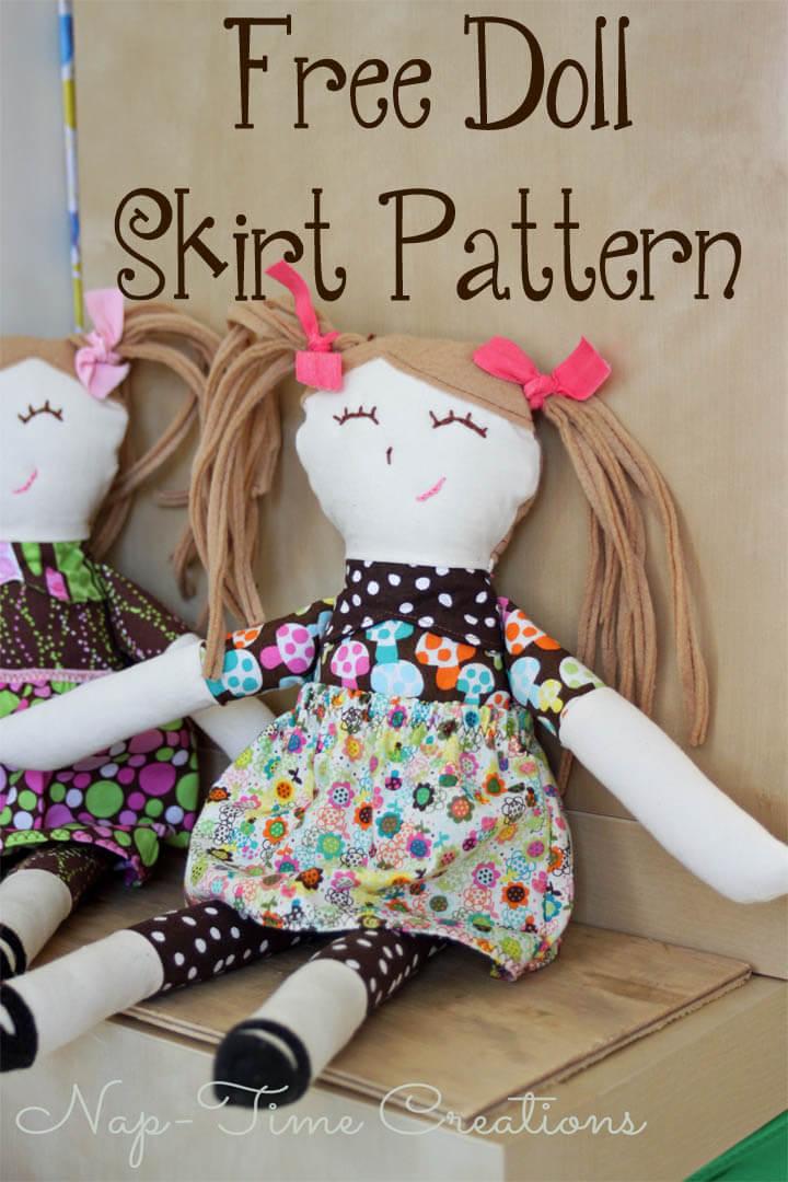 Doll Skirt Pattern 17