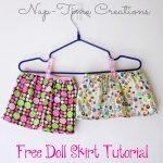 Doll Skirt Tutorial