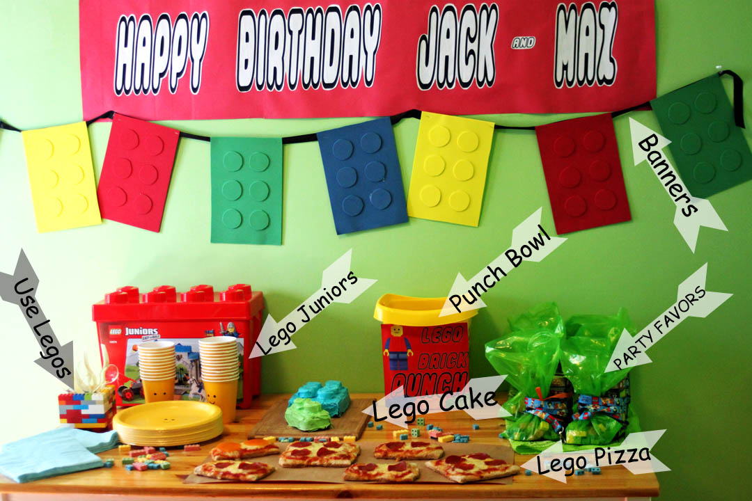 Plan a lego birthday party nap time creations for Decoration ideas 7th birthday party