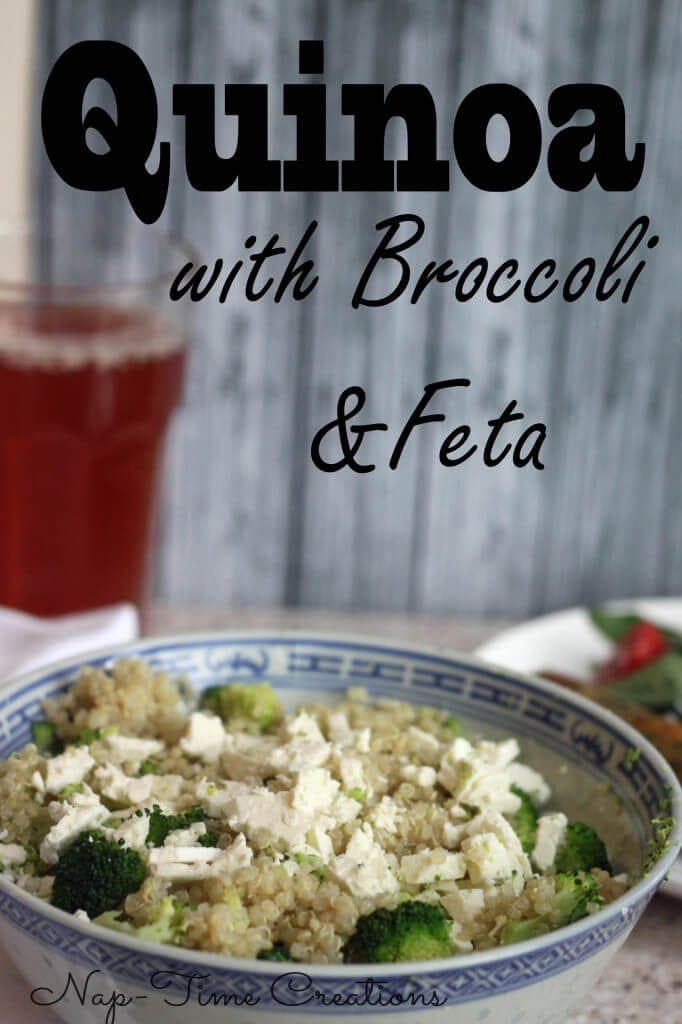 quinoa with broccoli and feta, a delicious and healthy meal! from nap-timecreations