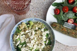 Quinoa with Broccoli {and Feta!}