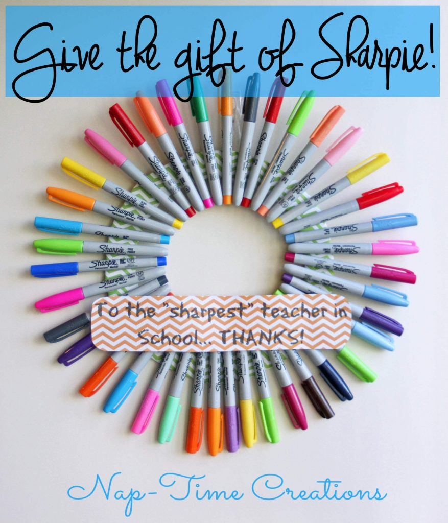sharpie teacher gift idea6  #StaplesBTS #PMedia #ad