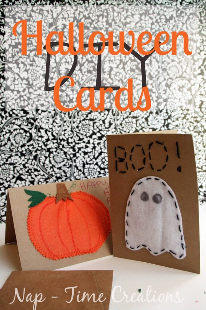DIY Halloween Cards with felt from Nap-Time Creations
