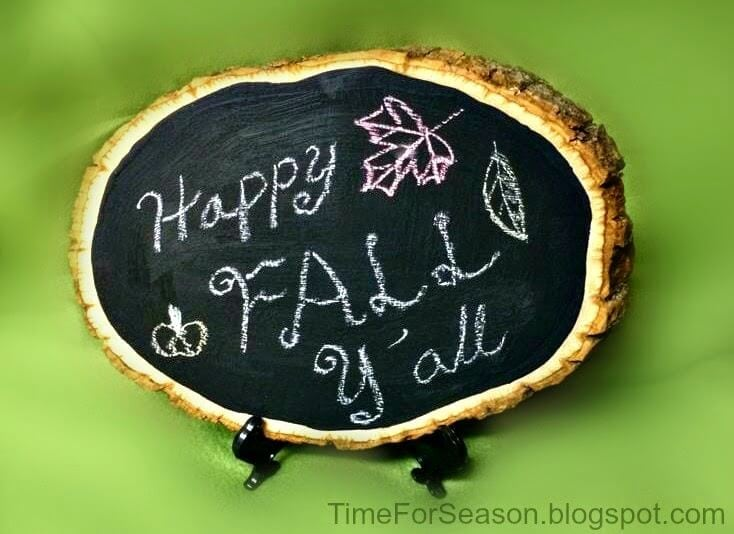 Fall Chalkboard Plaque 5