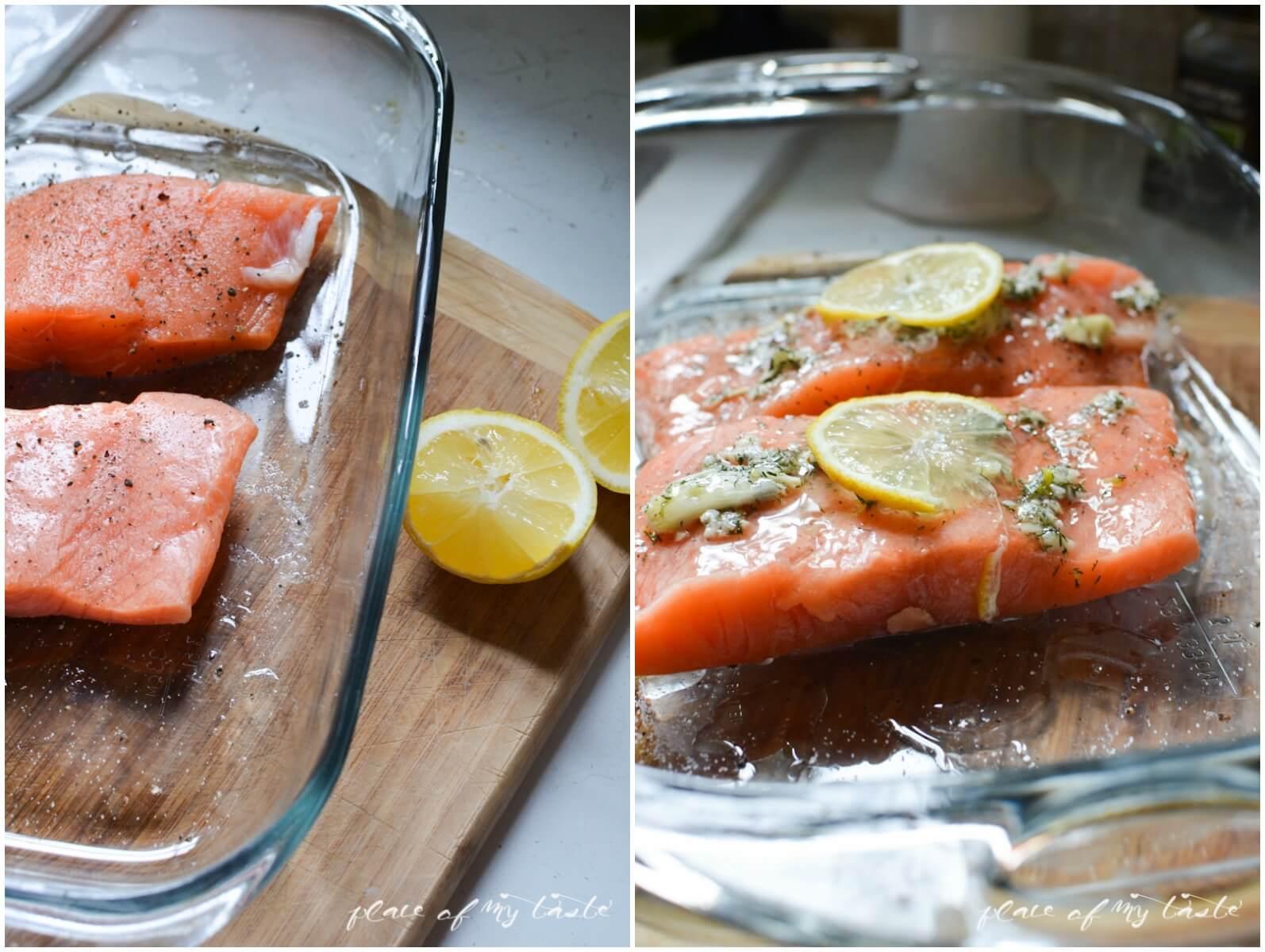 Lemon Dill Salmon- Place Of My Taste