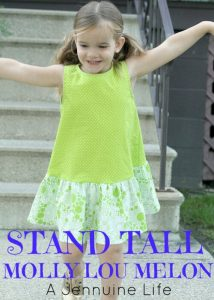 Sew Many Books Stand Tall, Molly Lou Melon {A Jennuine Life}