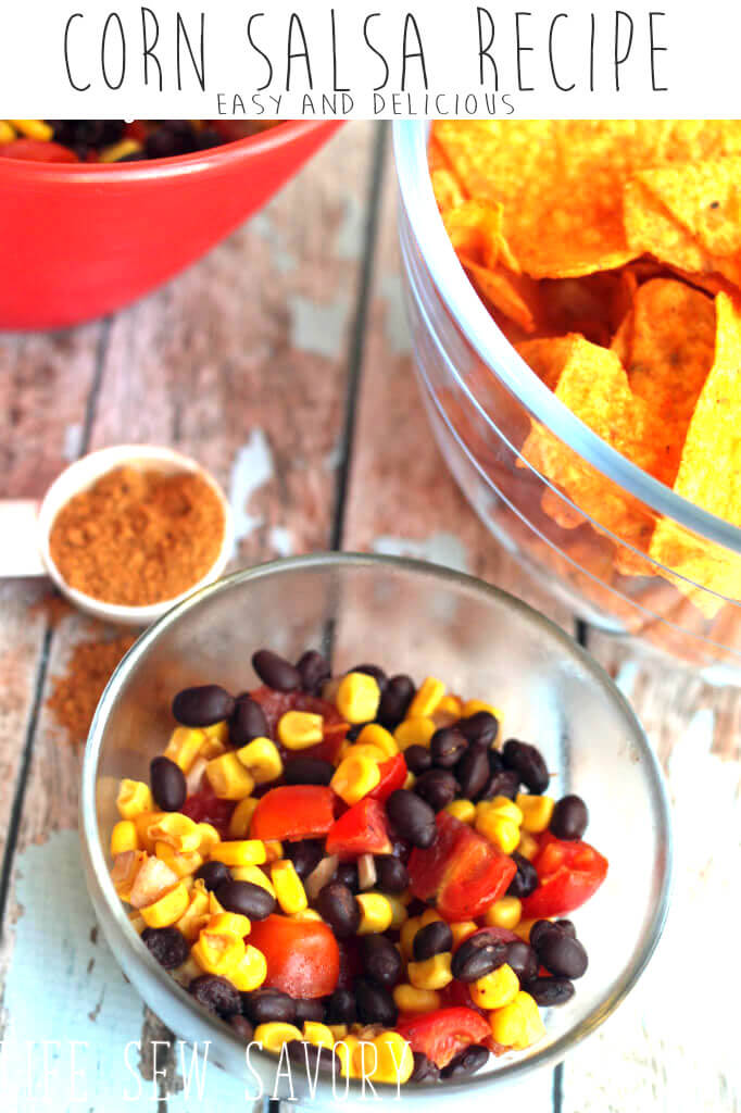 corn salsa recipe easy mexcican side dish from Life Sew Savory