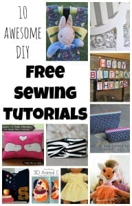 10 DIY Free Sewing Tutorials