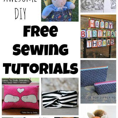 10 DIY Free Sewing Tutorials