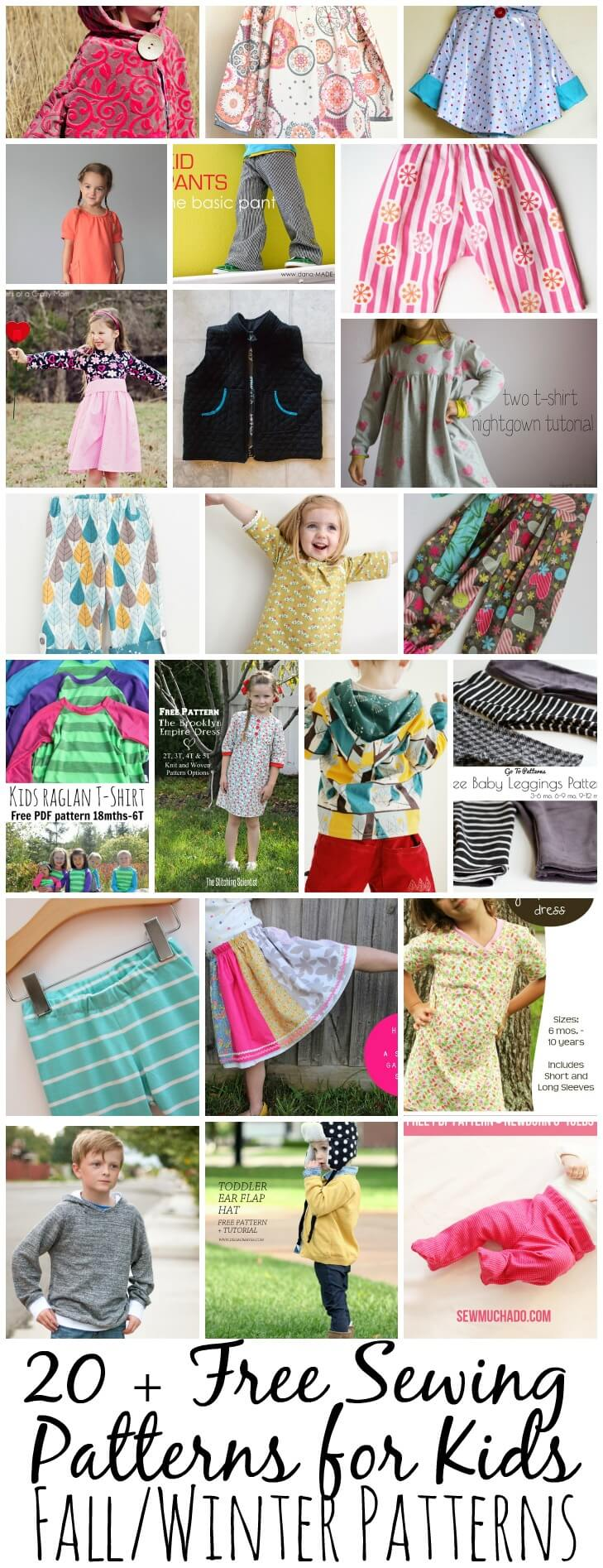 20 Free Sewing Patterns For Kids Winter Life Sew Savory