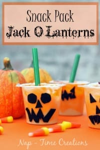Snack Pack Jack O Lantern #SnackPackMixins #CollectiveBias