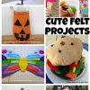 Cute Felt Projects on Nap-Time Creations.com #feltweek #feltprojects