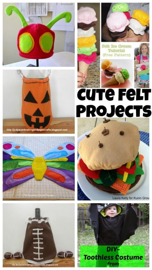 Cute Felt Projects on Nap-Time Creations.com #feltweek #feltprojects